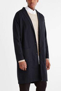 Your Neighbors Linen Duster Jacket