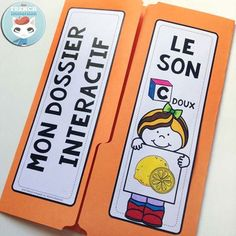 French Phonics Resources: dossier interactif – le son C doux. French interactive lapbook to practice the sound C doux, as in Citron, merCi, poliCier, etc. Sound C, French Classroom, French Resources, French Immersion, Book Projects, Learn French, Interactive Notebooks, Teacher Pay Teachers, Teacher Newsletter