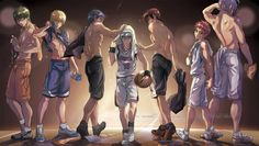 generation of miracles by chiihun I feel a serious case of nosebleed coming But dis art doe Shading and highlighting game strong Ouuf Mura tho Generation of Miracles |Midorima Shintarous| Kise Ryouta |Aomine Daiki |Kuroko Tetsuya| Kagami Taiga| Akashi Seijuro |Murasakibara Atsushi Kuroko no Basket