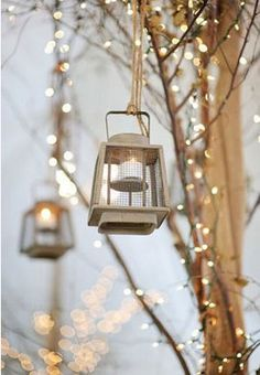 Winter Wedding Ideas - Fairytale Lanterns - Click pic for 25 DIY Wedding Decorations | Small Budget Wedding Ideas