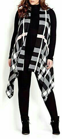 Moda Plus-size - Mega colete