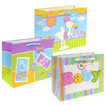 bulk voila extralarge horizontal babythemed gift bags at