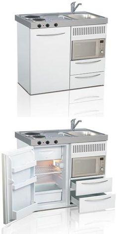 Mini kitchen, compact kitchen, small kitchen, space saving kitchen | Elfin Kitchens