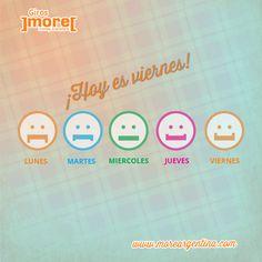 ¡Nos encantan las sonrisas! = Por eso nos encantan los viernes!   ➦ Buen fin de semana #More da giros en el mundo