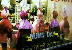 Mothers Day 2013 Window Display -The Mop Mammas by Melton Florist #windowdisplay#mothersday#florist