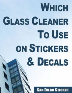 Which Glass Cleaner to Use on Stickers & Decals →