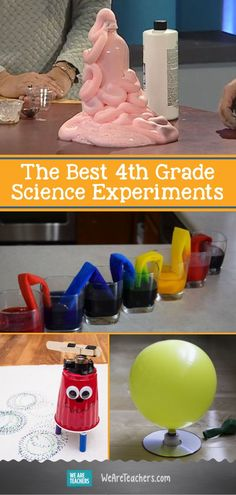 The Best Grade Science Experiments. Are you trying to find new ways to get your students excited about STEM? Then you need to try out these fun hands-on experiments! From electricity, biology, chemistry, physics…it's all here for the taking! 4th Grade Science Experiments, 4th Grade Science Projects, Science Project Board, 5th Grade Science, Teaching Science, Science For Kids, Science Activities, Easy Science, Kindergarten Science