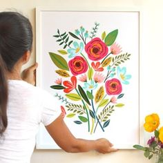 Learn the secret technique to make a beautiful framed large wall art for almost FREE, on canvas or paper! Unique DIY wall decor & gifts in Anthropologie style! - A Piece of Rainbow