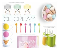 """""""Ice Cream Treats II"""" by katarina-blagojevic ❤ liked on Polyvore featuring interior, interiors, interior design, home, home decor, interior decorating, Zoku, Koziol, Fringe and Ciel"""