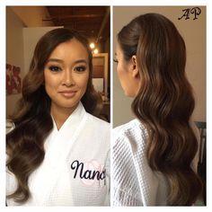 Image result for romantic waves bridal dark hair