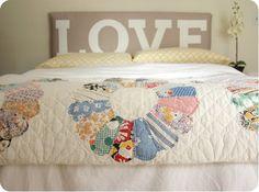 love the quilt & headboard
