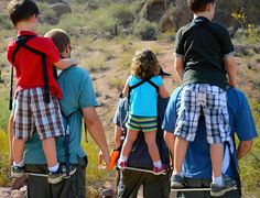 The Piggyback Rider is a simple child carrier that straps to your back like a regular backpack. GetdatGadget.com