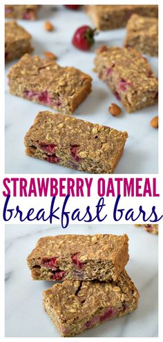 Strawberry Oatmeal Breakfast Bars // Well-Plated