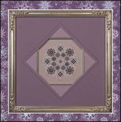 Just Nan - JN042R-Amethyst Snowflake • Counted Thread Cross Stitch Designs from Just Nan
