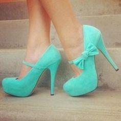 Fashion blue shoes