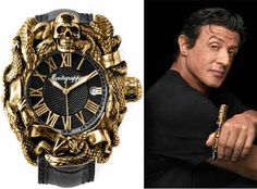 Treat Yo Self Parks and recreation  Sylvester Stallone and Montegrappa present the Chaos Automatic Analogue Watch at Baselworld