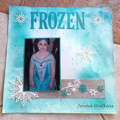 Jenna Watkins - Independent Stampin Up! Scrapbook Pages, Scrapbooking, Show Case, Winter Holidays, Snowflakes, Stampin Up, Frozen, Corner, Ink