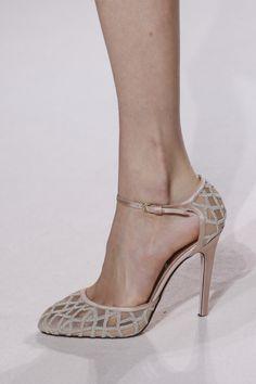 Neutral rose Shoes @GiambattistaPR Giambattista Valli Spring Summer 2013 #HauteCouture #Fashion