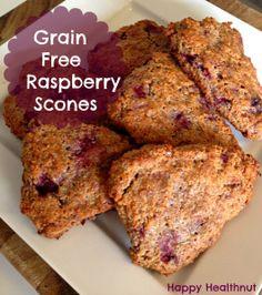Grain Free Raspberry Scones using left over almond pulp