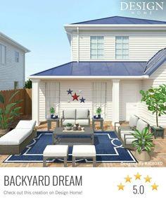Design Home App, House Design, Creation Homes, Star Designs, Game Design, My House, Backyard, Interior Design, The Originals