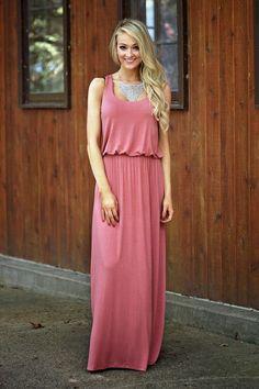 Make Me Blush Maxi Dress