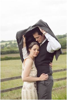 Wedding in the Rain | Image by Cat Hepple Photography