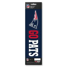 New England Patriots Decal Die Cut Slogan 2 Pack New England Patriots Gear, Patriots Team, Team Slogans, Go Pats, Beer Bottle Opener, Nfl Sports, Die Cutting, Decals, Packing