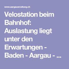 Velostation beim Bahnhof: Auslastung liegt unter den Erwartungen - Baden - Aargau - az Aargauer Zeitung Veils, Pool Chairs, Round Round, Bathing