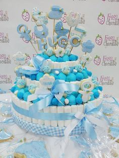 Candy Birthday Cakes, Candy Cakes, Marshmallow Cake, Cake Bouquet, Giant Cupcakes, Candy Table, Candy Party, Girl First Birthday, Drip Cakes
