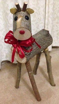Christmas Wood Crafts, Diy Christmas Decorations Easy, Christmas Projects, Holiday Crafts, Christmas Ornaments, Diy Christmas Home Decor, Halloween Decorations, Homemade Decorations, Spring Crafts