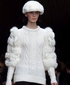 Вязаный пуловер от Burberry | Вяжем с Ланой http://mslanavi.com/2012/10/vyazanyj-pulover-ot-burberry/