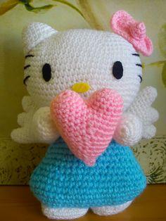 Hello Kittie Angel crochet