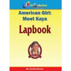 American Girl: Meet Kaya Lapbook
