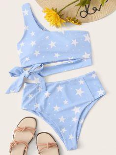Fashion Women 2020 New Light Blue Bikini Cute Cheap Bathing Suits - 2020 Fashion Women Light Blue Bikini Cute Cheap Bathing Suits – firstes Source by - Bathing Suits For Teens, Summer Bathing Suits, Swimsuits For Teens, Cute Bathing Suits, Cheap Swimsuits, One Shoulder Bikini, One Shoulder Tops, Modest Bikini, Bikini Swimsuit
