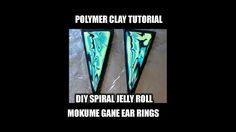 Polymer clay tutorial - DIY mokume gane earrings