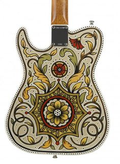Handpainted guitars by Sarah Ryan for Creston