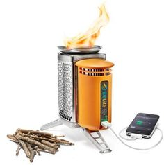 This innovative stove lets you cook your food and charge your gadgets with nothing more than the twigs you collect around your camp!