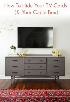 Young House Love | How To Hide TV Wires For A Cord-Free Wall | https://www.younghouselove.com