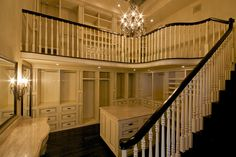 two-story closet!! Oh in my dreams! Half closet half library!
