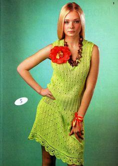Knitting. Vestido encantador para el verano .... Debate sobre LiveInternet - Servicio Ruso diario en línea