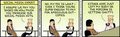 The Dilbert Strip for September 28, 2012 Social Media Expert
