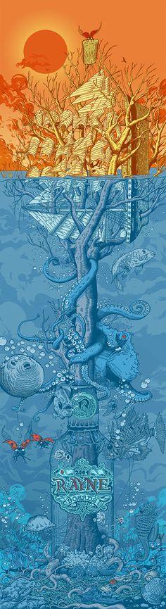 Rayne Longboards - Tom McDonagh illustration #octopus