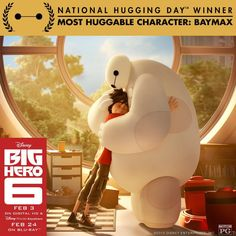 National Hugging Day is a thing and Baymax just won it. | Dearest Geeks of Earth #Disney #BigHero6 #Baymax #NationalHuggingDay