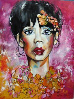 Artista Patricia Valor Oleo y acrilico sobre madera 60 x 80 cm
