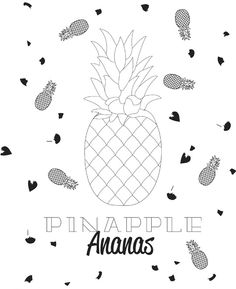 Pack 10 removedores cocktail pi as imprescindible en tu - Ananas dessin ...