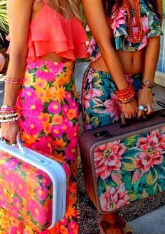 Beach, colour, fun, fashion, summer style, retro.