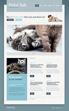 Wordpress 'Pets Club' Theme. 40644. $67