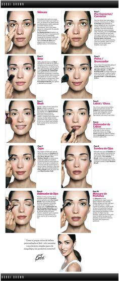 """""""Crear tu propia rutina de belleza personalizada es fácil, solo necesitas conocimiento, simples pasos de maquillaje y los productos correctos"""" by Bobbi Brown"""