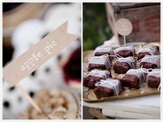 the sunday sweet styled shoot forest dessert buffet cherry pie cookies in a jar red velvet cake rustic banana pudding
