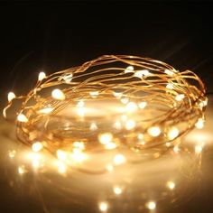Kohree 60 Micro LEDs String Decor Rope Light Battery Powered on 20ft Ultra Thin String Copper Wire with Timer